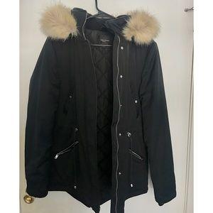 Zara black winter coat ❄️